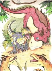 L'attaque des Deinonychus