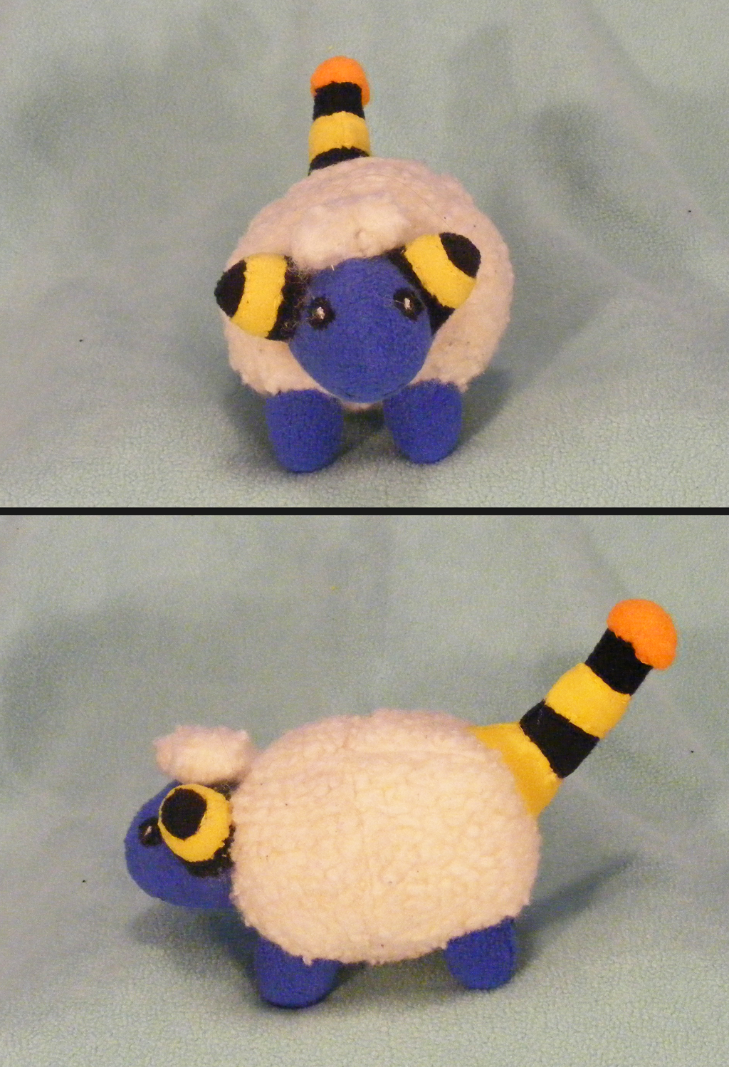 Mareep Plush (Front and Side)