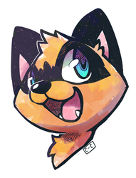 Crayon Chewer Commission - Happy Coon!