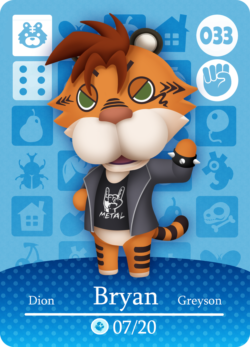 Most recent image: Bryan Animal Crossing Card by Panda