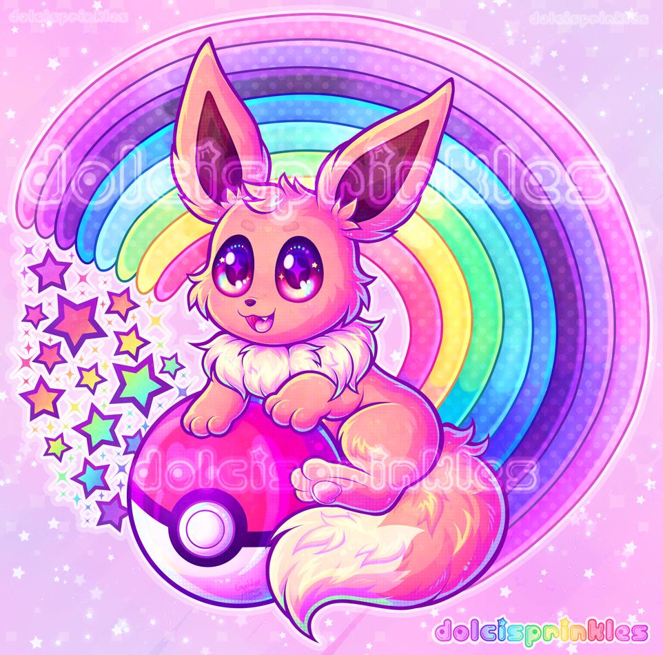 PKMN: Rainbow Eevee
