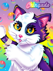 Lisa Frank Badge - Chingado