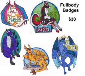 Spiral Style Fullbody Badges: $30