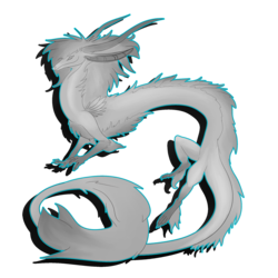 Axeldefrysta dragon lineart