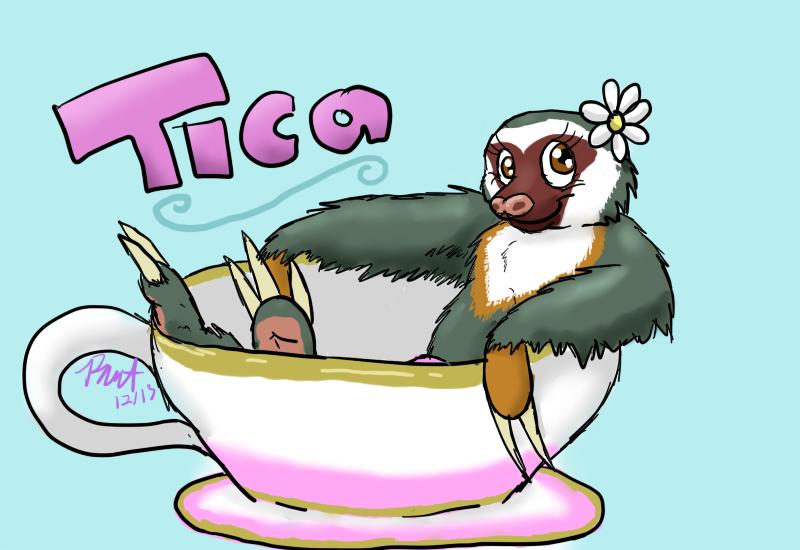 Tica Teacup Badge