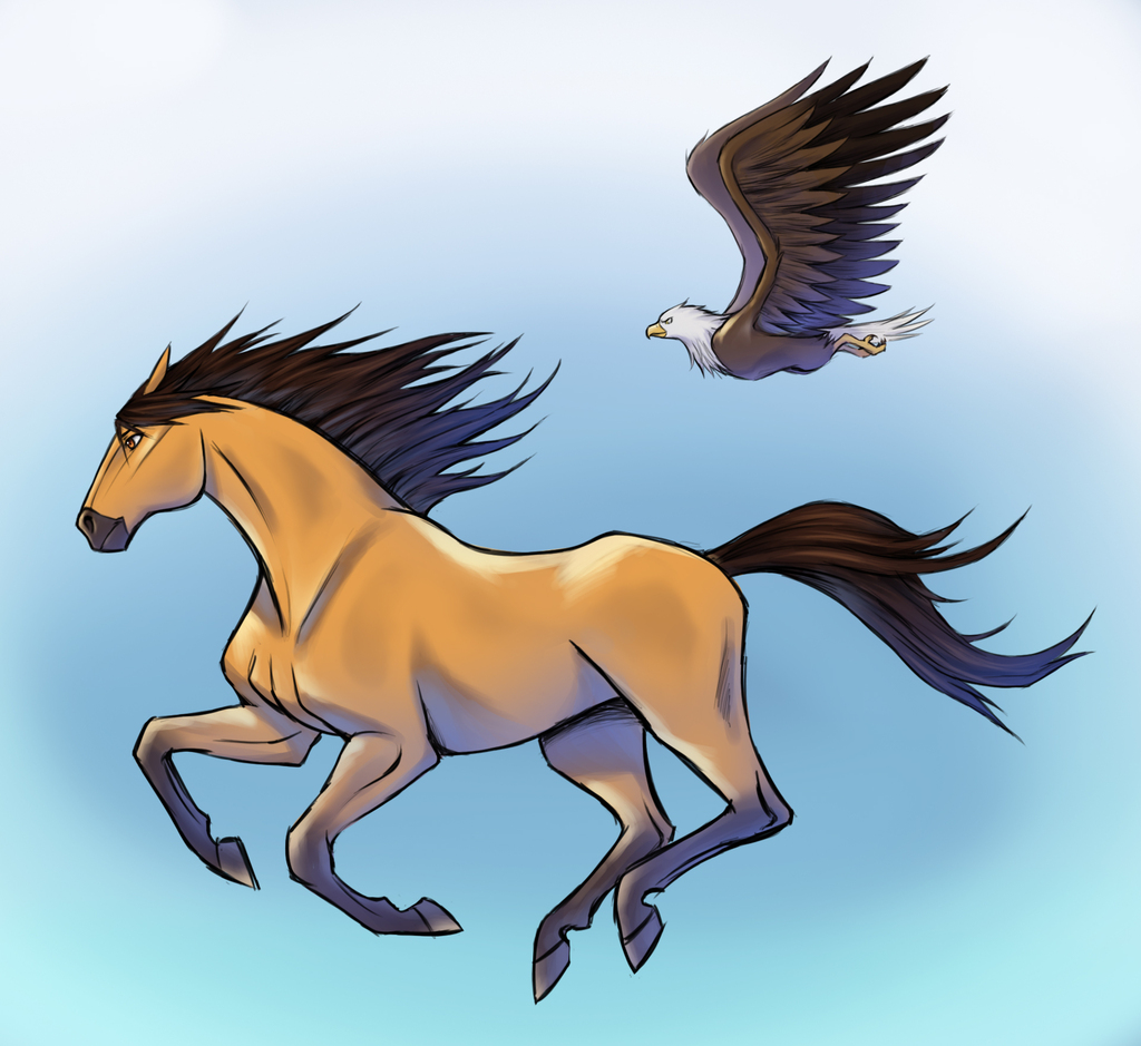 Running With Eagle