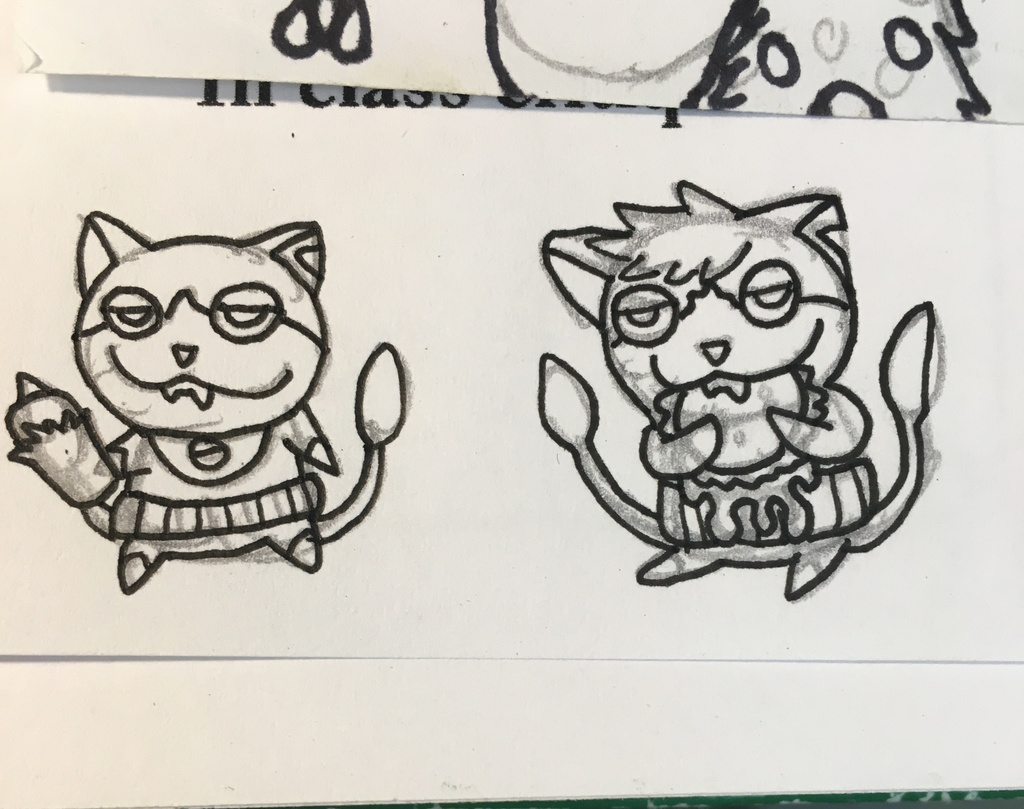 Jibanyan and Tomnyan