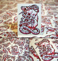 Ratober Stitched Vinyl Stickers