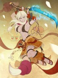 Commission: White Oni Amaya