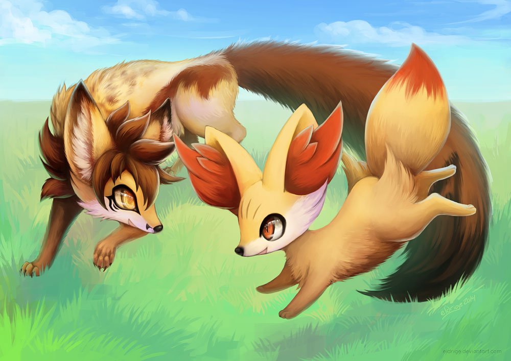 Most recent image: Commission: Raoul and Fennekin