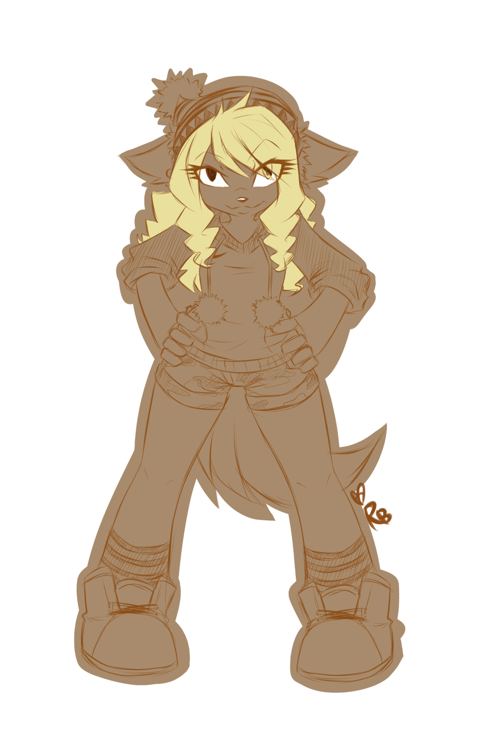 Anthro sketch commission 2