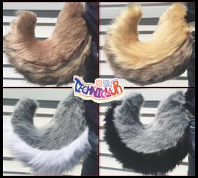 (FOR SALE) Curled Natural Color Fursuit Tails