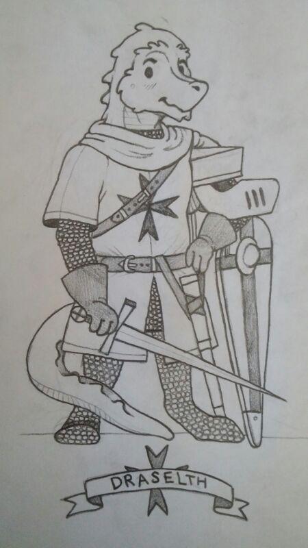 Chibi Knight Warden by Pelzigenguillotine