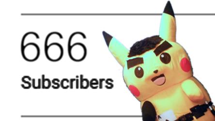 Mascot Pikachu Fursuiting: 666 Subscriber Special