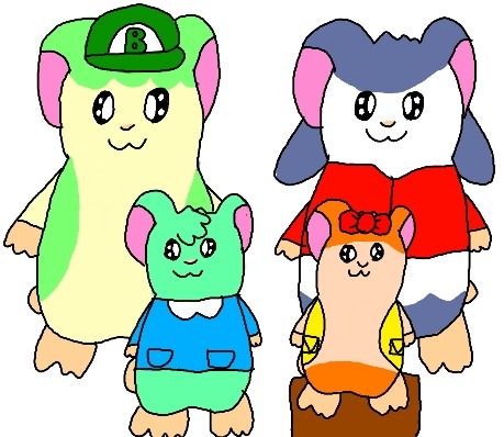 Hamster Family Portrait