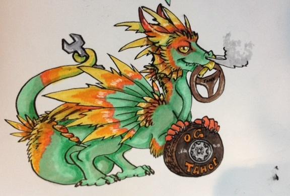 OJ Tahoe Pot Dragon