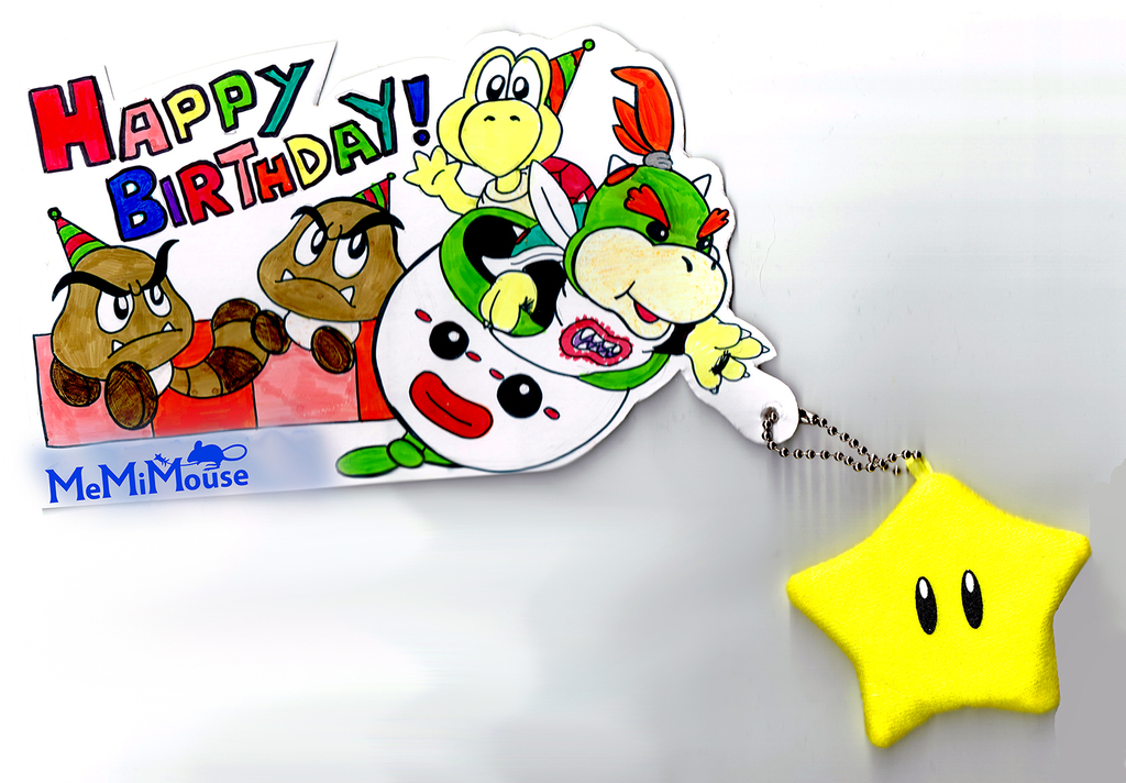 Bowser Jr. Birthday Card
