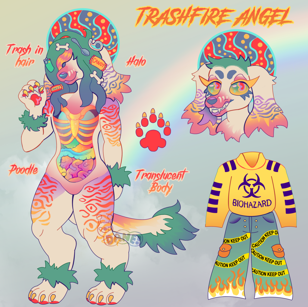 (SOLD) Trashfire Angel