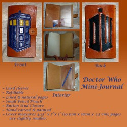 Doctor Who Leather Mini-Journal
