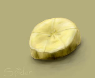 Painting Sketch--Banana Slice