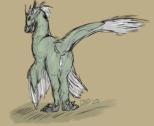 Green Raptor [sketch] [2020]