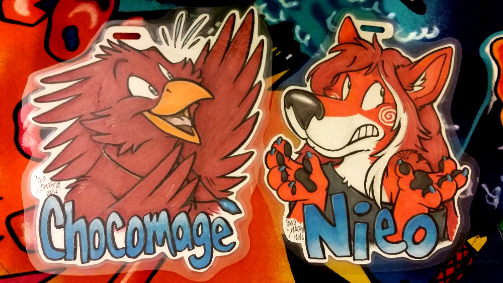 Chocomage and Nieo Couples Badges