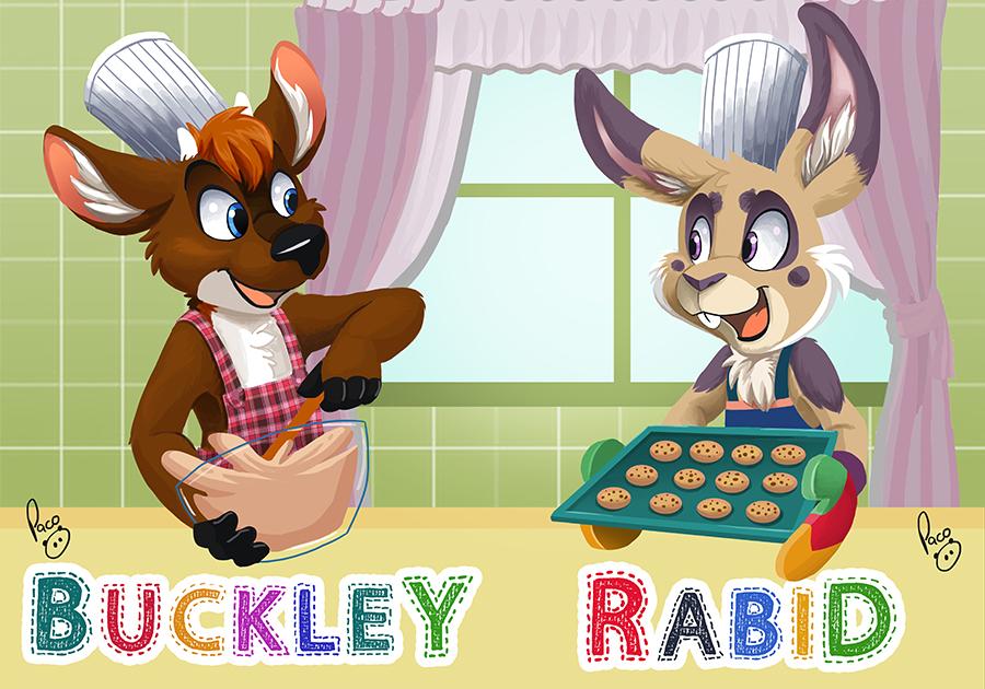 BLFC badge: Buckley and Rabid