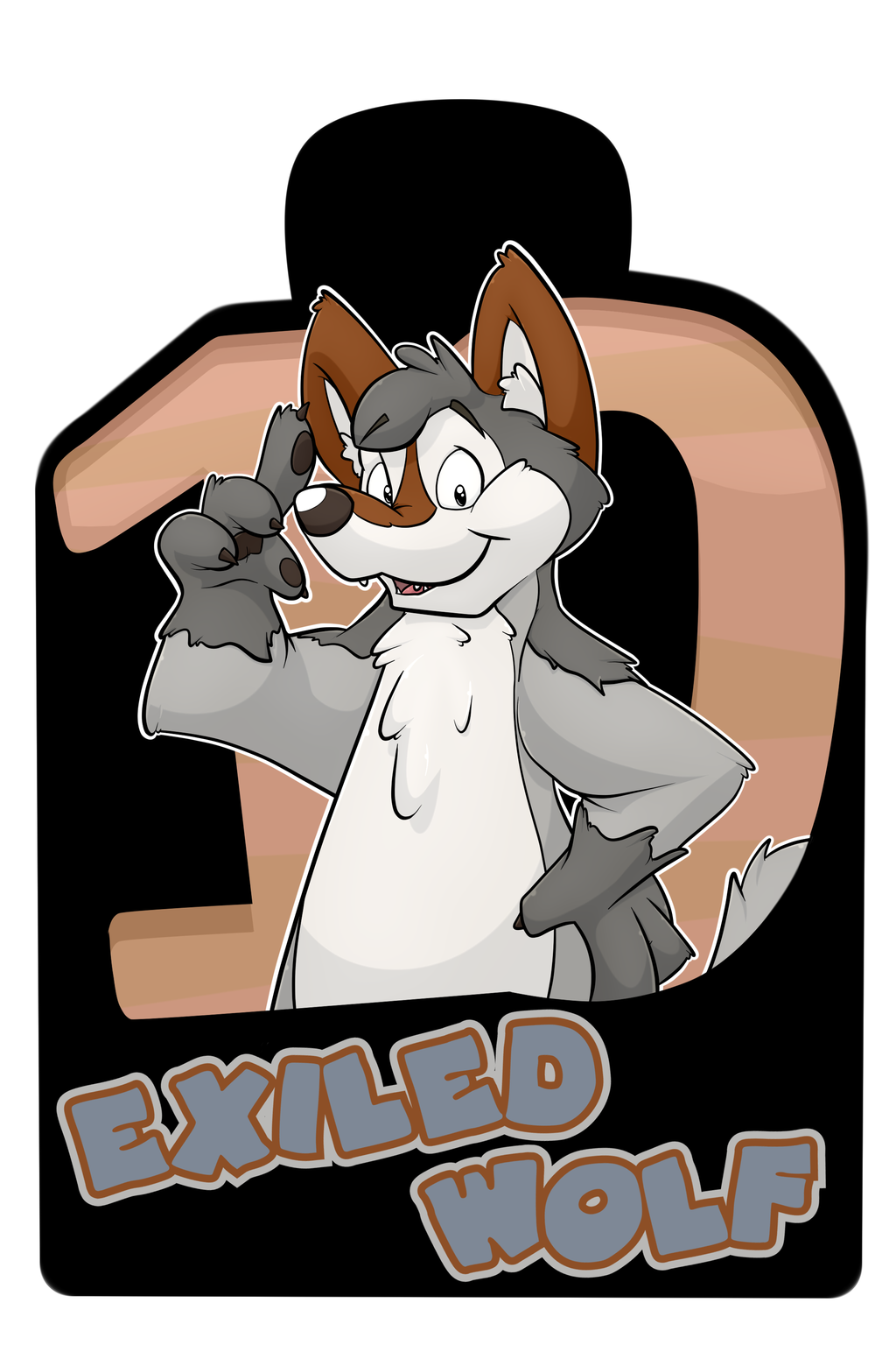 Confuzzled 2017 Badges - Exiled Wolf