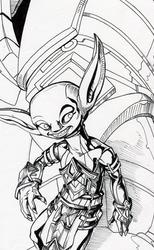 :Commission: Golem Jockey ~Inks~