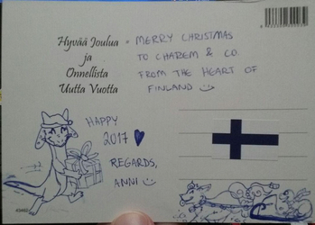 A Very Merry Finnish Christmas Card - by Pippuri