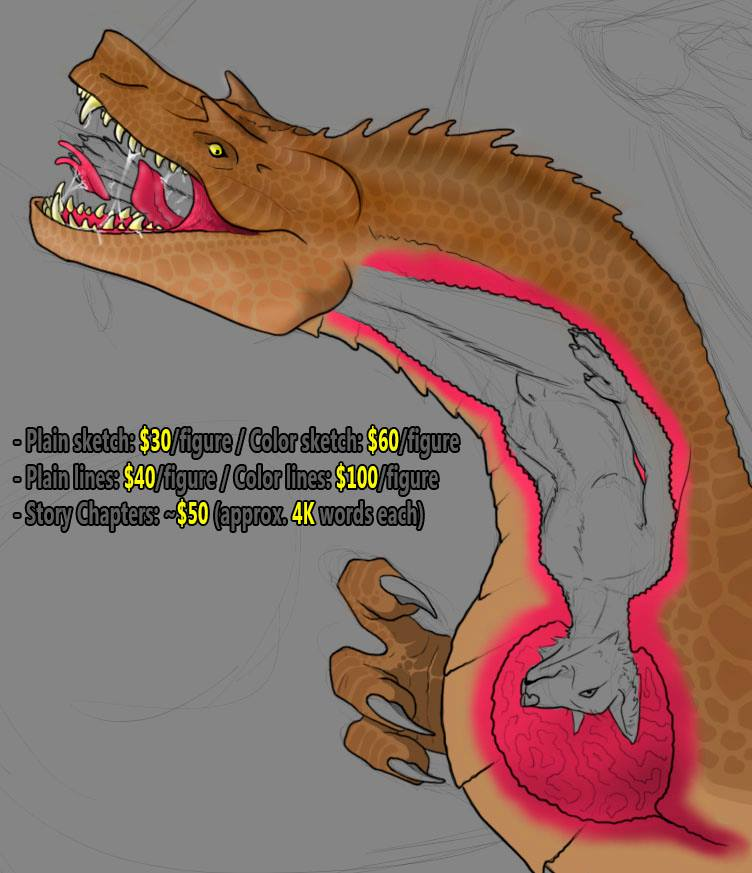 Most recent image: Commisions open (Vore)