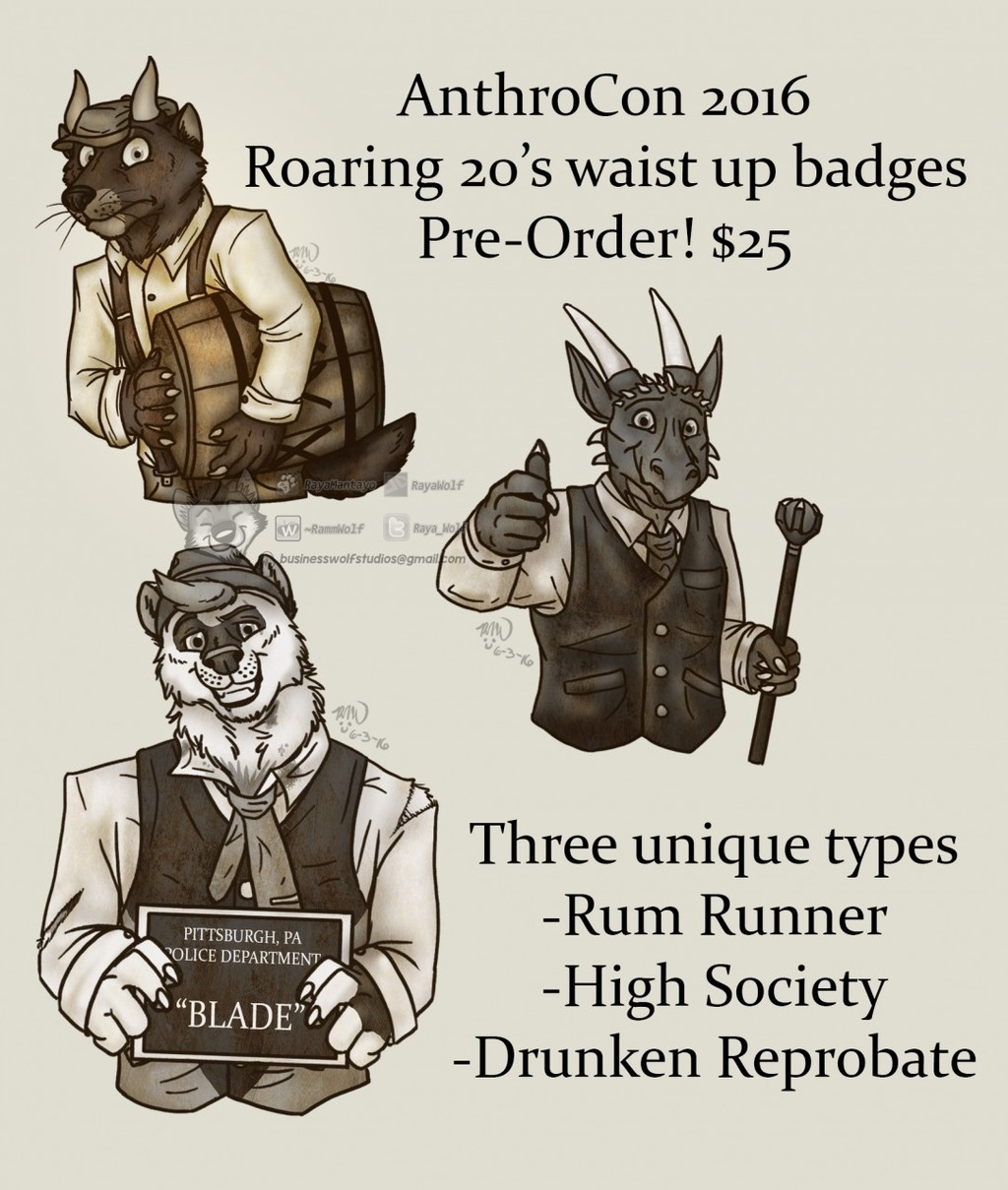 AnthroCon 20's Badges!