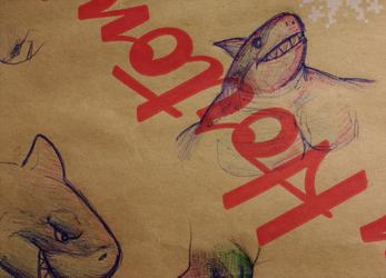 Wrapper Scribbles - Shark