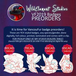 VF2019 Badge Preorders