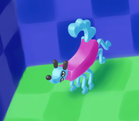 Wobble on, little doggie