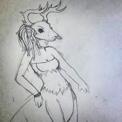 fantasy creature lady