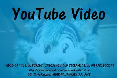 Cyan Glaciertooth Live Fursuit Unboxing