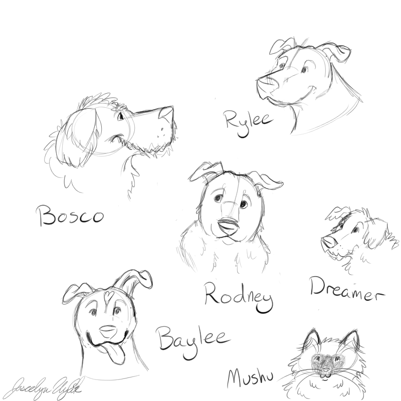 Most recent image: Quick Doodles of My Pets