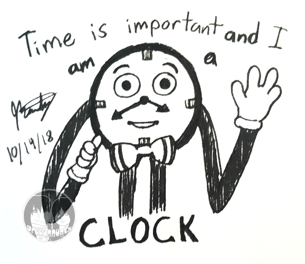 "Inktober 2018 - Day 14 ""Clock"""
