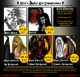 Stab's Commission Prices and Examples
