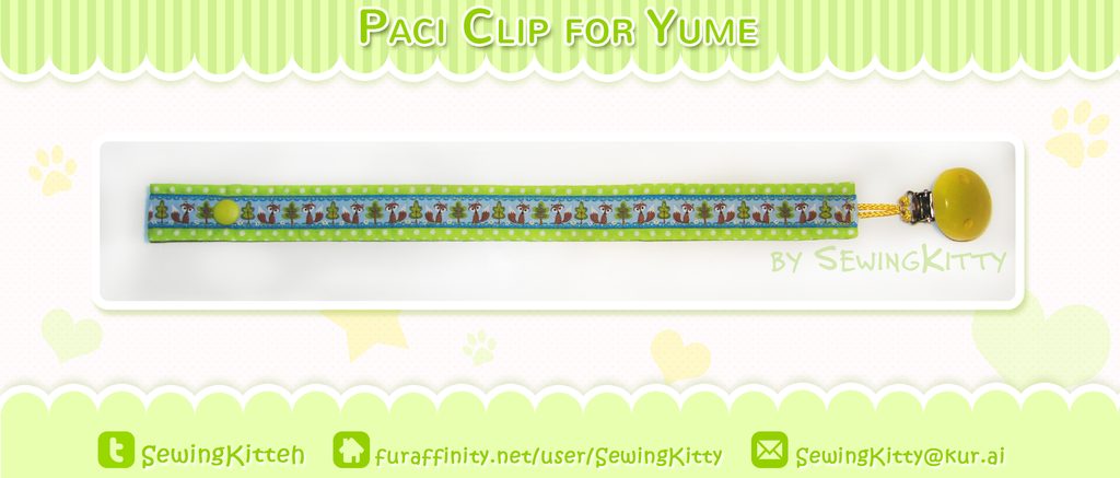 Most recent image: Pacifier Ribbon Clip for Yume