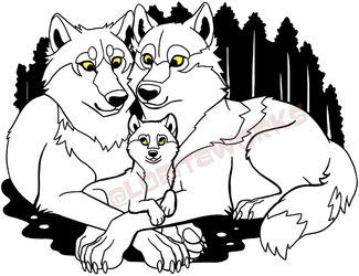 Wolf Family (Merch Available)