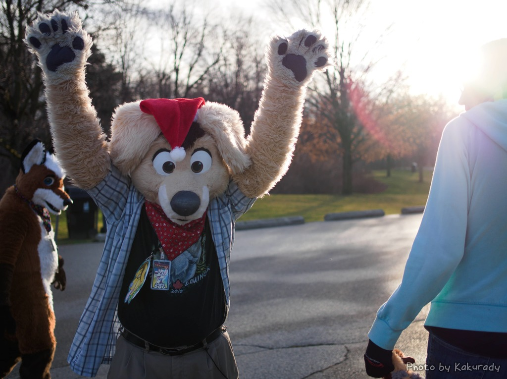 Furnal Solstice 2015 - R. K. Niner waving while the sun shines from his back creating a lens flare