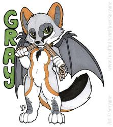 Gray - Chibi Badge