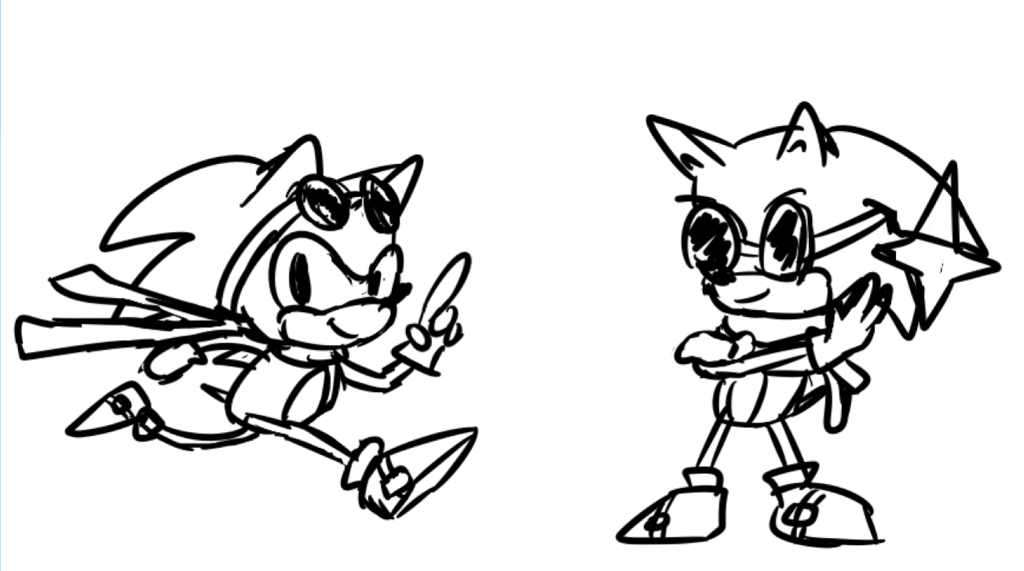 Most recent image: Sonic doodles