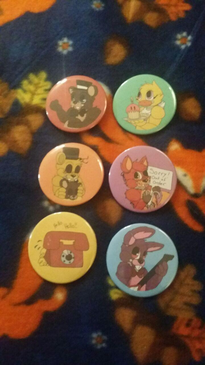 Most recent image: For Sale: FNAF Buttons