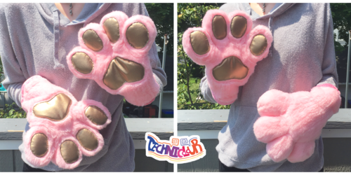 (FOR SALE) Rose Gold Fursuit Handpaws