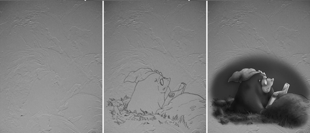 Images In Textures, 1 of 5: The Midnight Mole