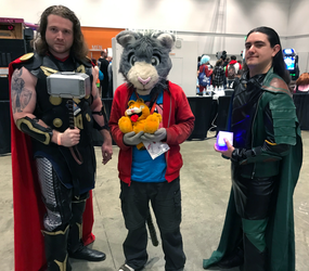 Thor, Loki and Peter? (Fanime'19)