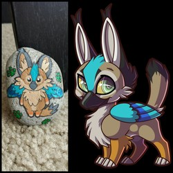 Painted Gryphon Rock
